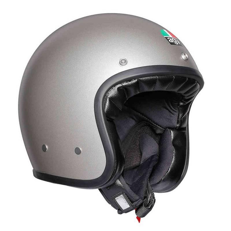 Agv X70 Jet Helm Matt Grau