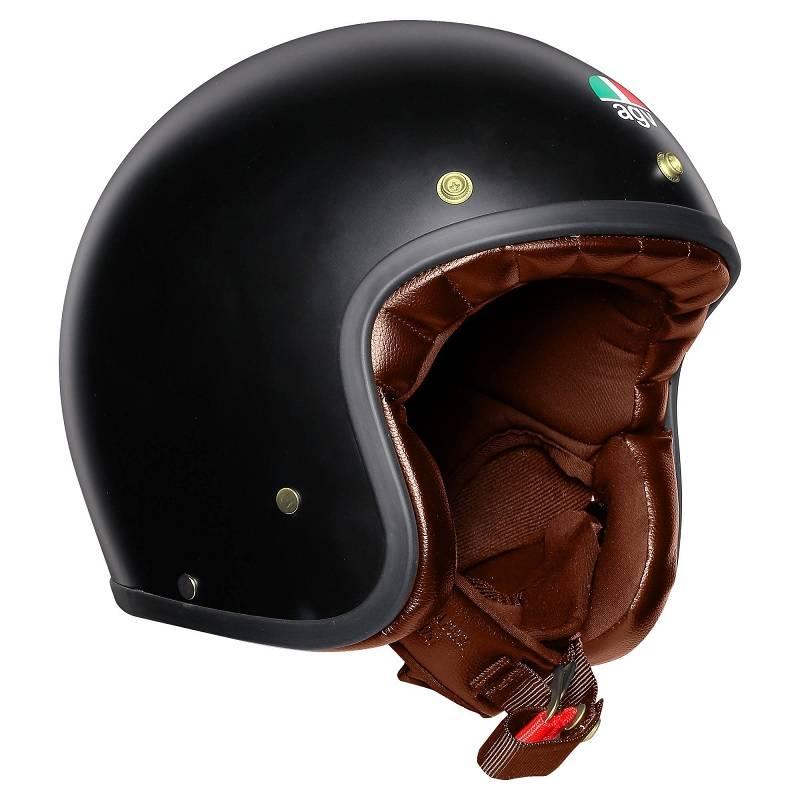 Agv X70 Jet Helm Matt Schwarz Gold