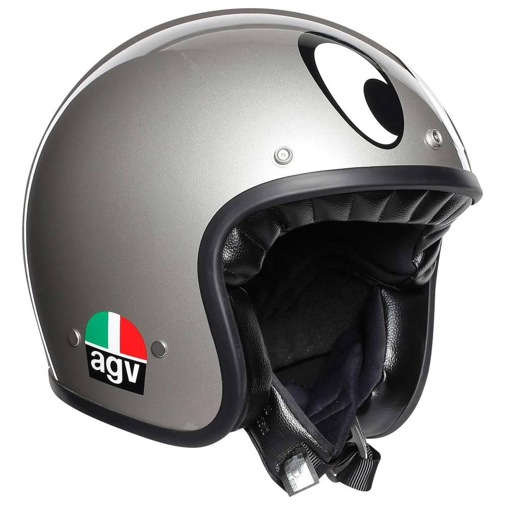 Agv X70 Jet Helm MontJuic Silber