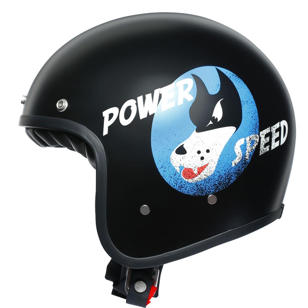 Agv X70 Jet Helmet Power Speed Pure Matt Black