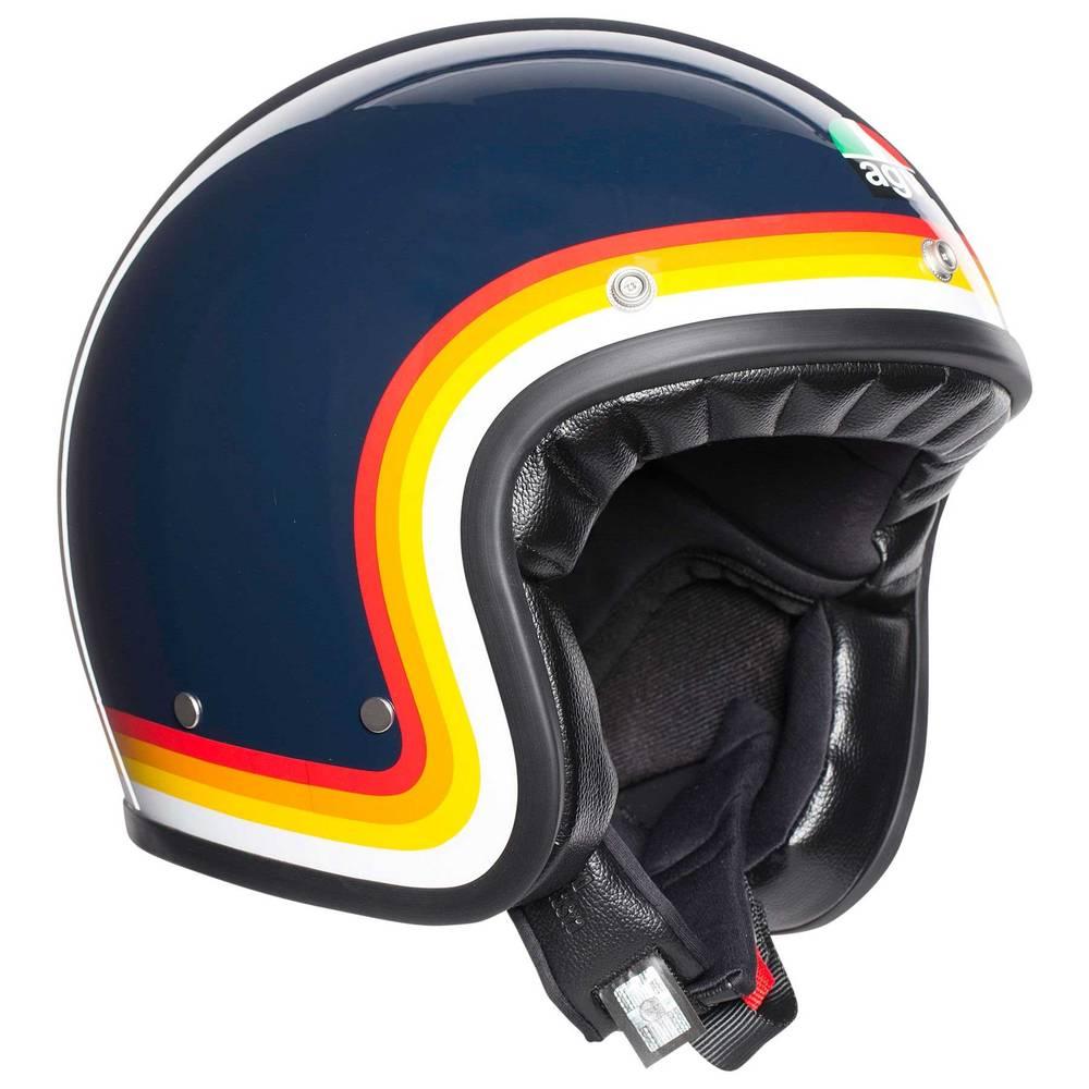 Agv X70 Jet Helmet Riviera Blue Rainbow