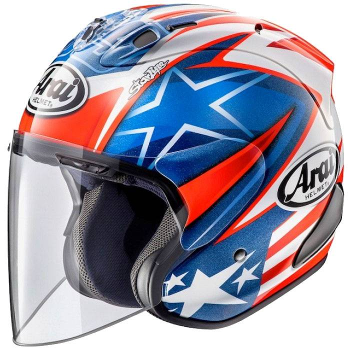 arai sz ram x hayden wsbk ar3345hn jet helmets motostorm. Black Bedroom Furniture Sets. Home Design Ideas
