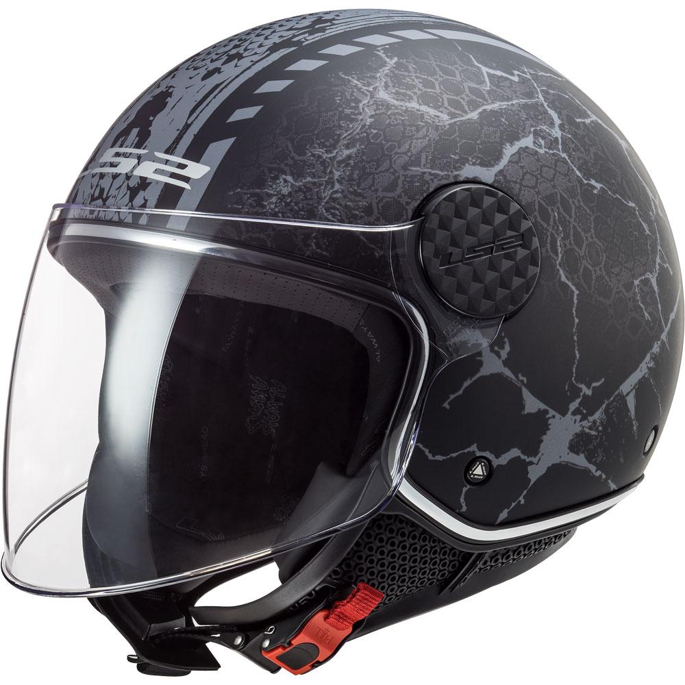 Ls2 Sphere Lux Of558 Snake Nero Opaco Titanio