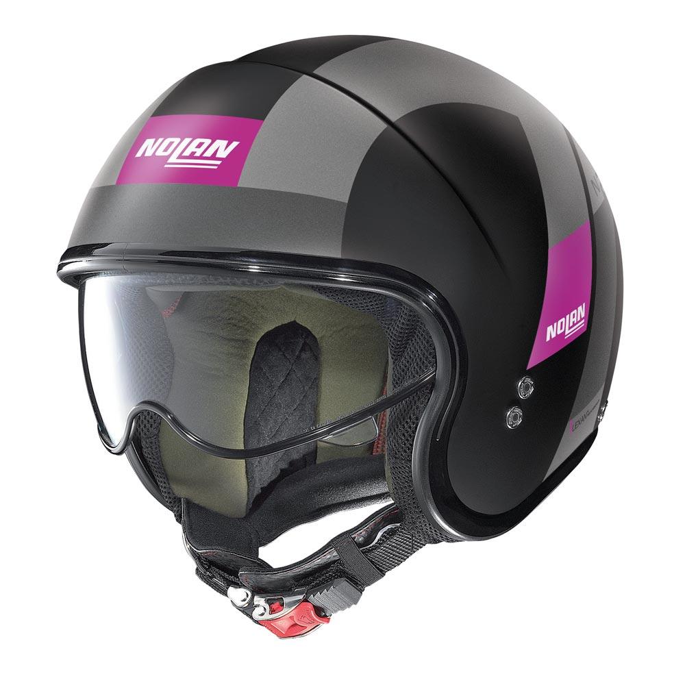 Nolan N21 Spheroid Helm schwarz lila