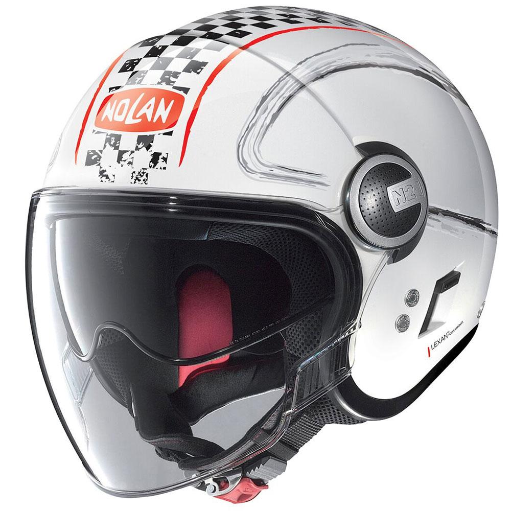 Nolan N21 Visor Getaway Red White Metal