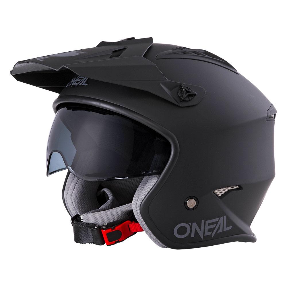 casco abierto con gafas desmontables y m/áscara para las cuatro estaciones circunferencia de la cabeza 57-58 cm Zerone Casco medio para motocicleta 59-60 cm M 61-62 cm opcional XL L