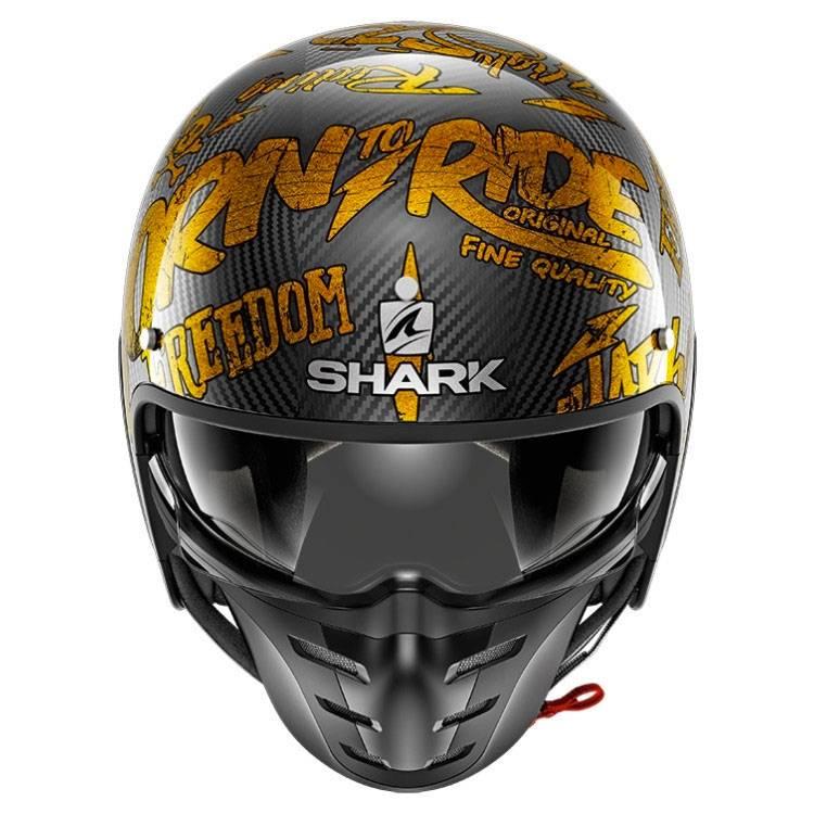 Shark Casco Jet s-drak Carbon Freestyle Cup D/éco oro dqq talla XS