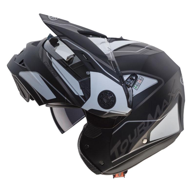 0217345b Caberg Tourmax Marathon Matt Black White C0FC00F3 Modular Helmets ...