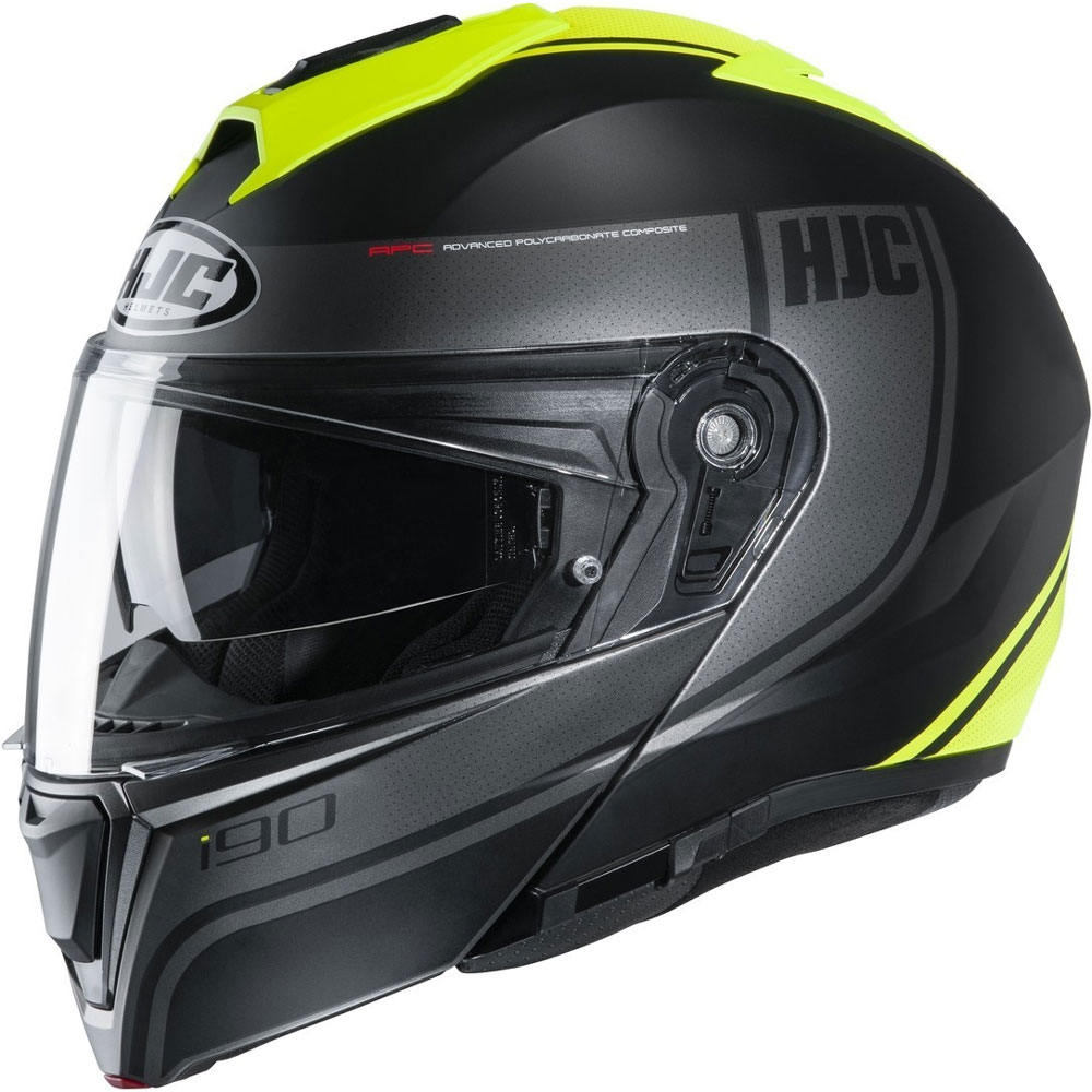 Hjc I90 Davan Modular Helmet Black Yellow