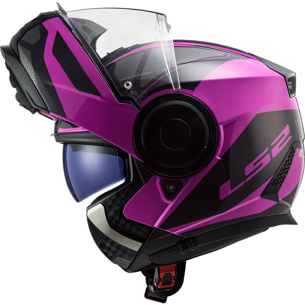 LS2 Casco de moto FF902 SCOPE AXIS BLACK PINK negro//rosa talla S