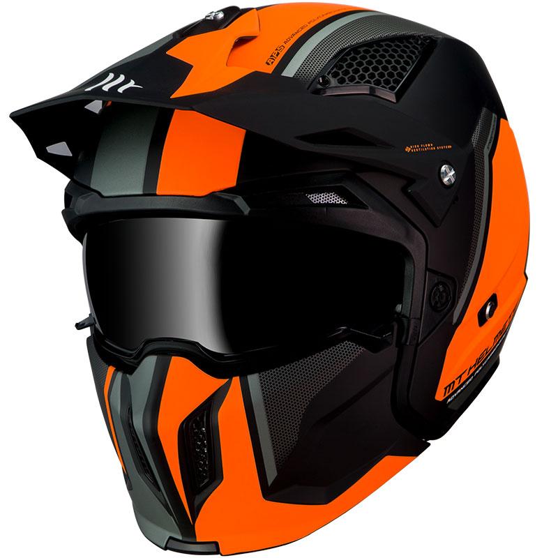 Mt Helmets Streetfighter Sv Twin C4 Arancio Fluo