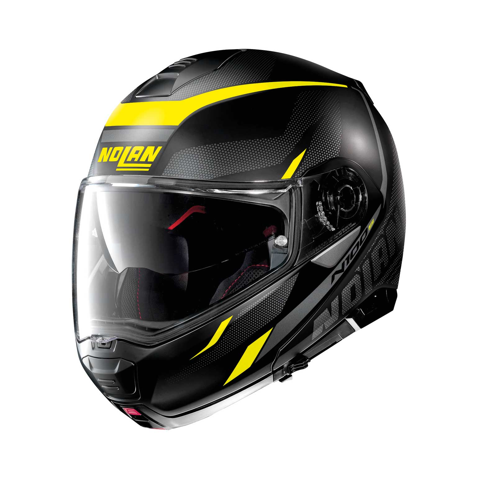 Nolan N100.5 Lumière N-Com Modularhelm gelb schwarz