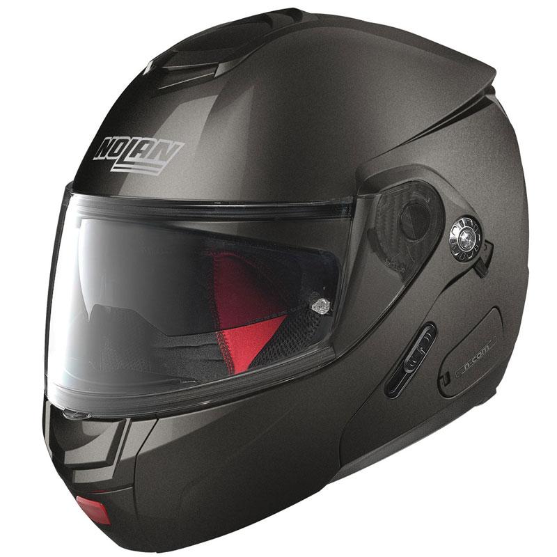 NOLAN N90-2 CLASSIC N-COM FLIP UP MODULAR Motorcycle Motorbike Helmet LAVA GREY