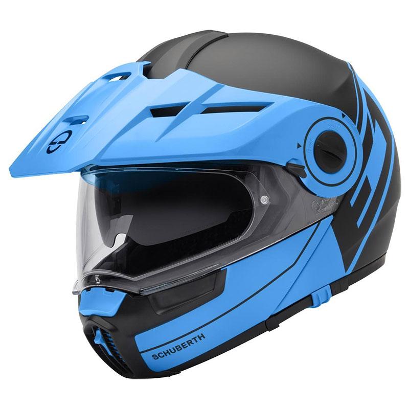 Schuberth E1 Radiant Blu Nero Opaco