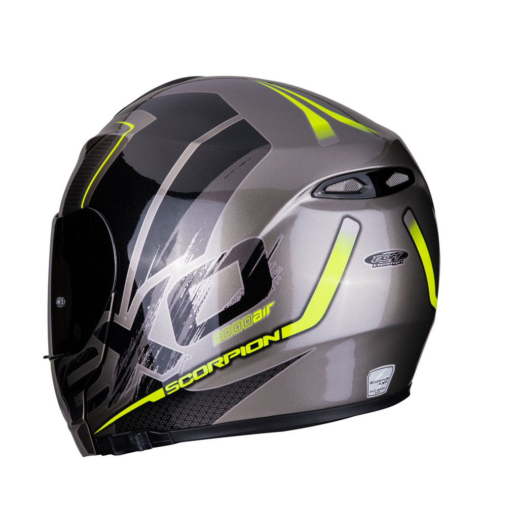 2343bbd8 Scorpion Exo-3000 Air Creed Grey 27-290-240 Modular Helmets   MotoStorm