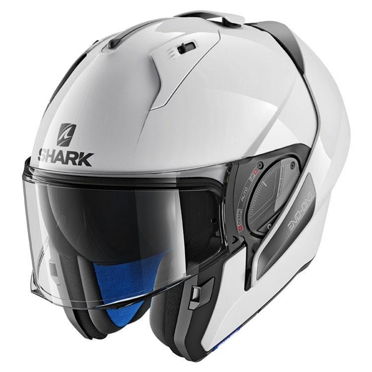 shark evo one 2 white he9700ewhu modular helmets motostorm. Black Bedroom Furniture Sets. Home Design Ideas
