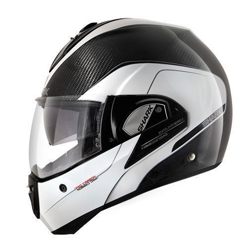 shark evoline pro carbon white anthracite motostorm