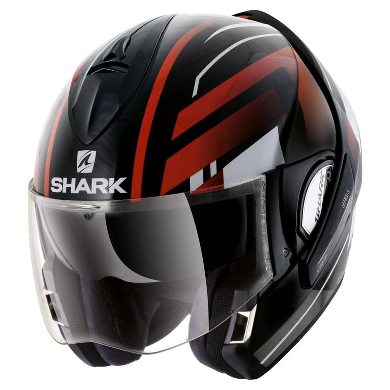 shark evoline serie 3 corvus schwarz weiss rot he9343ekwr modular helme motostorm. Black Bedroom Furniture Sets. Home Design Ideas