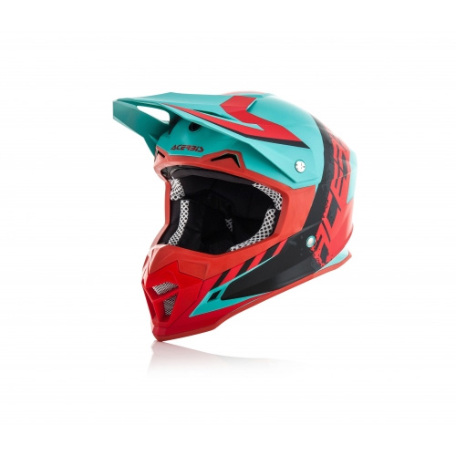 Acerbis Profile 4 Green And Red 2018 Helmet