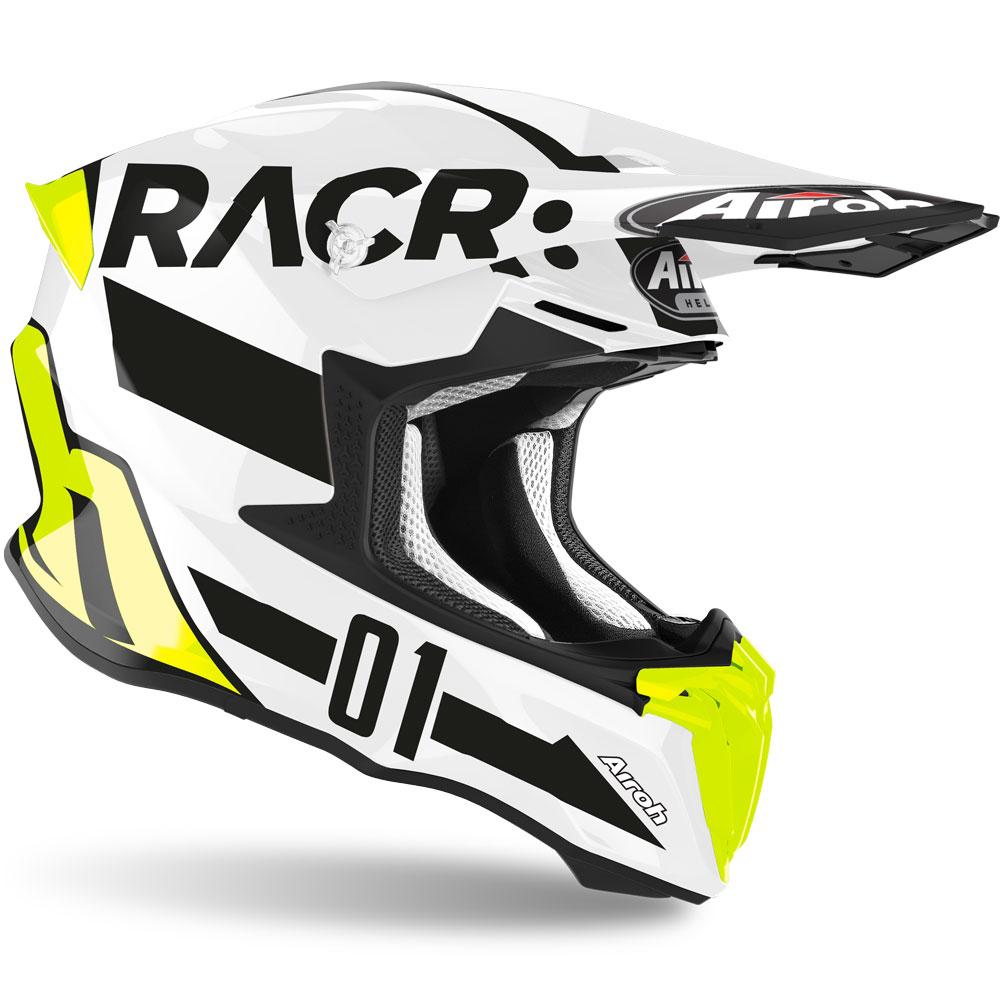 Airoh Twist Racr Casco MX Nero//Bianco
