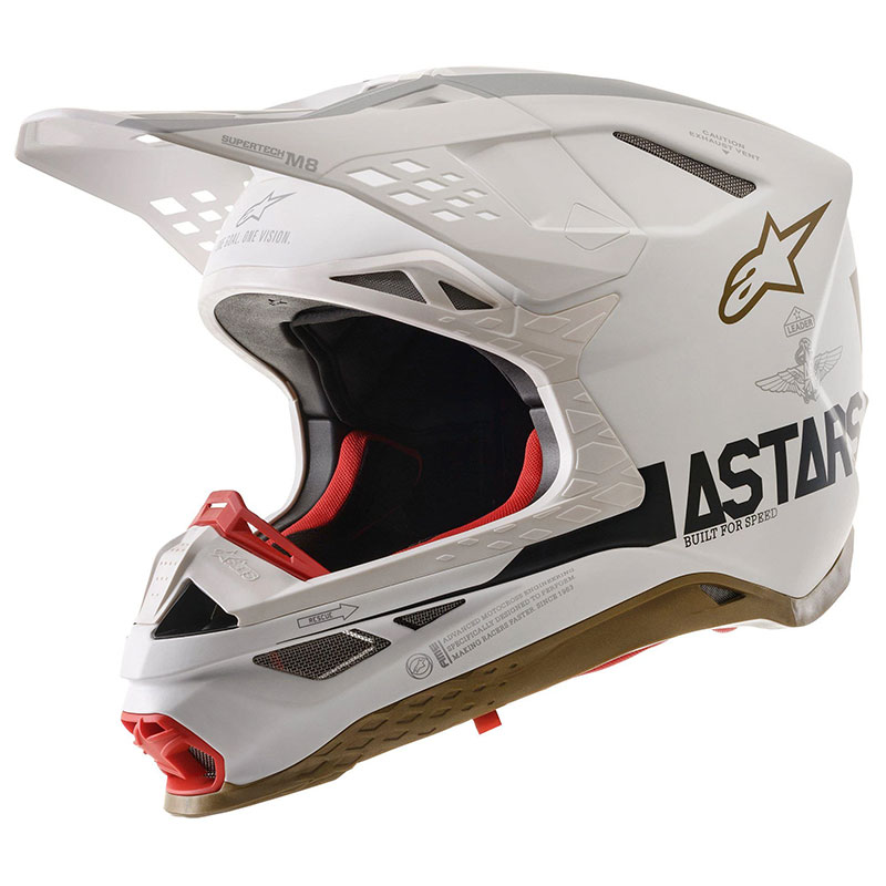 Alpinestars S-M8 Squad 20 LTD Helm Silber Gold