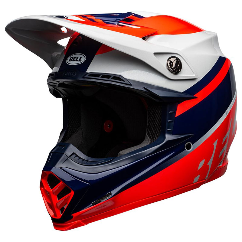 Casco Bell Moto 9 Mips Prophecy Rosso Infra Navy
