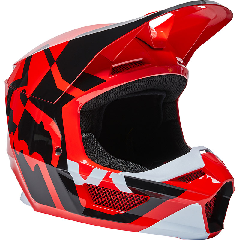 Casco Fox V1 Lux Rosso Fluo