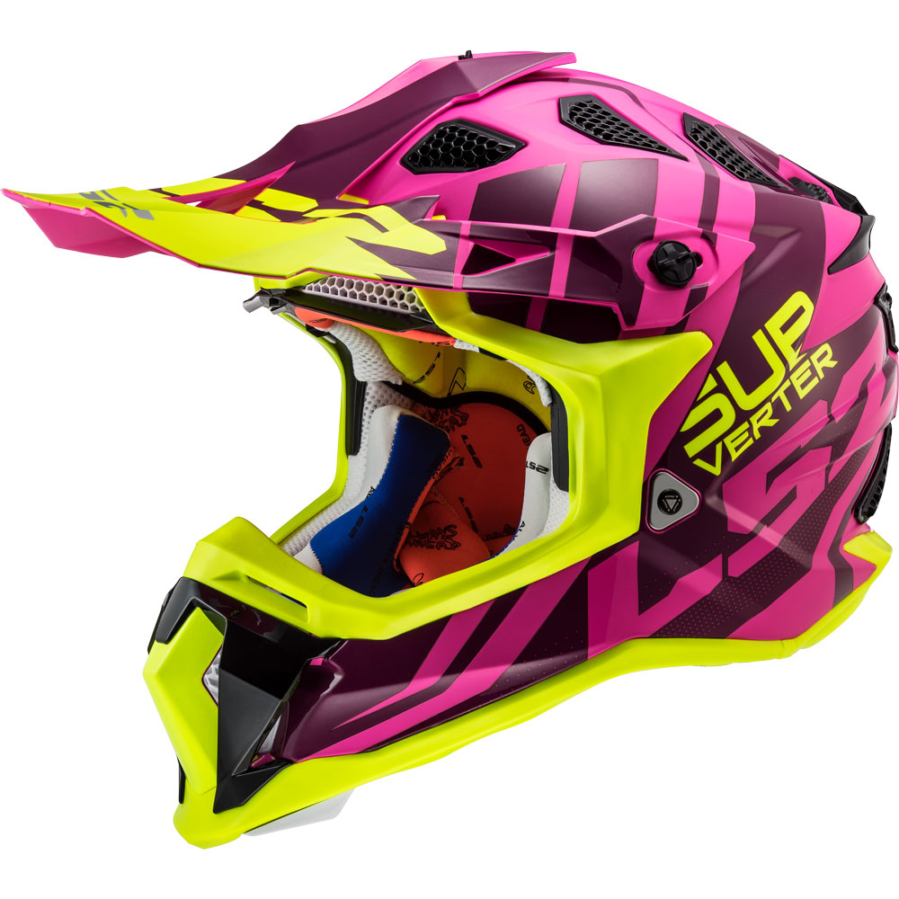 CROSS HELMET CASCO OFF ROAD LS2 MX470 SOLID GIALLO ALTA VISIBILITA ENDURO