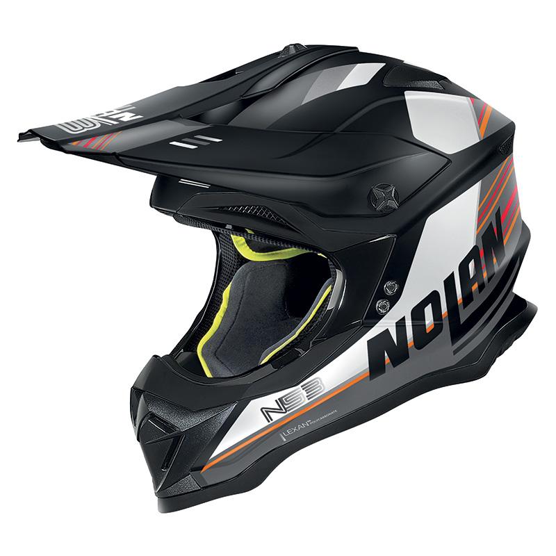 Nolan N53 Kickback Bianco Nero Opaco