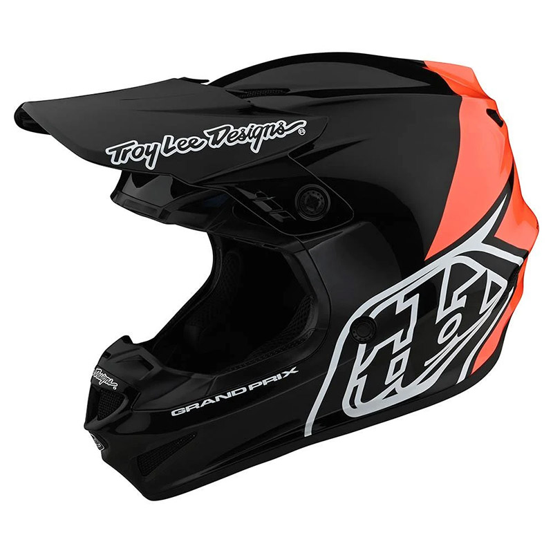Casco Troy Lee Designs Gp Block Nero Arancio
