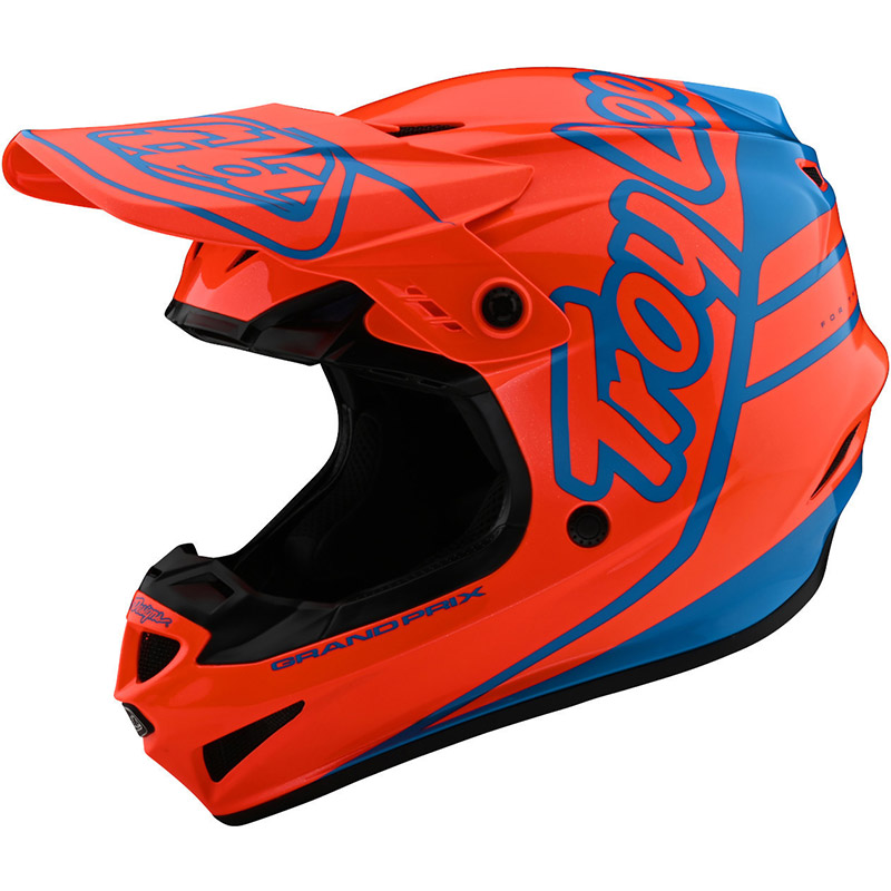 Casco Troy Lee Designs Gp Silhouette Arancio Cyan