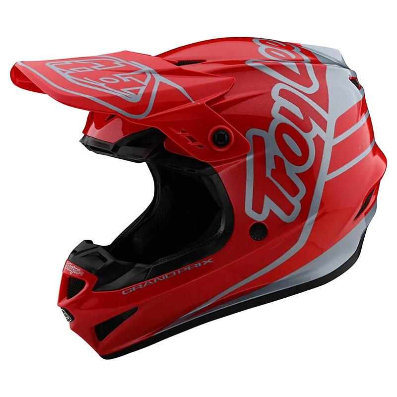 Troy Lee Designs Gp Silhouette Helmet Red Silver