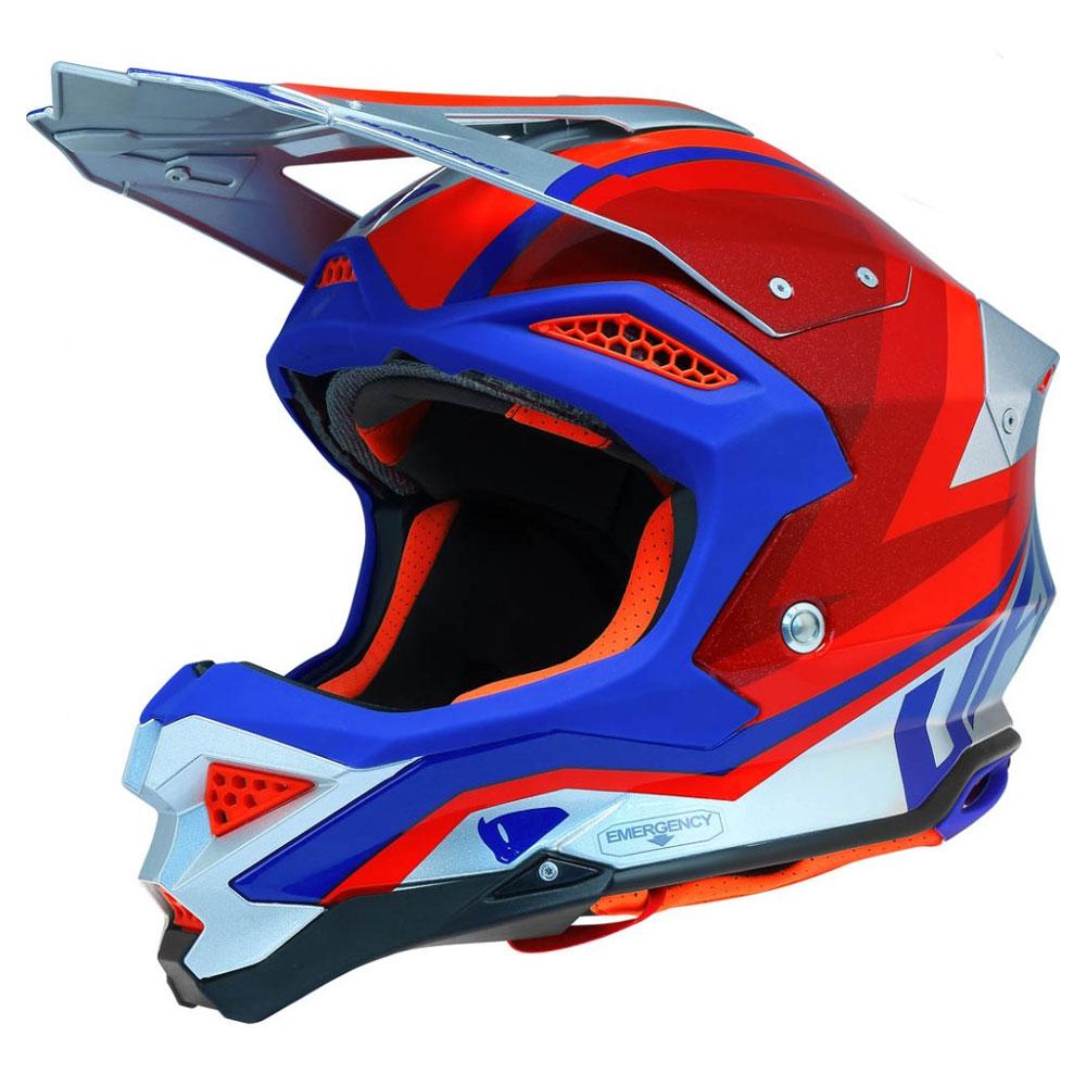 Ufo のオフロードヘルメットダイヤモンドレッド