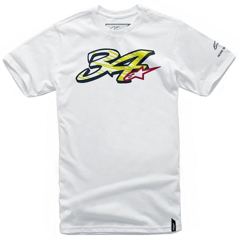 Alpinestars Kevin Schwantz T-Shirt Weiß