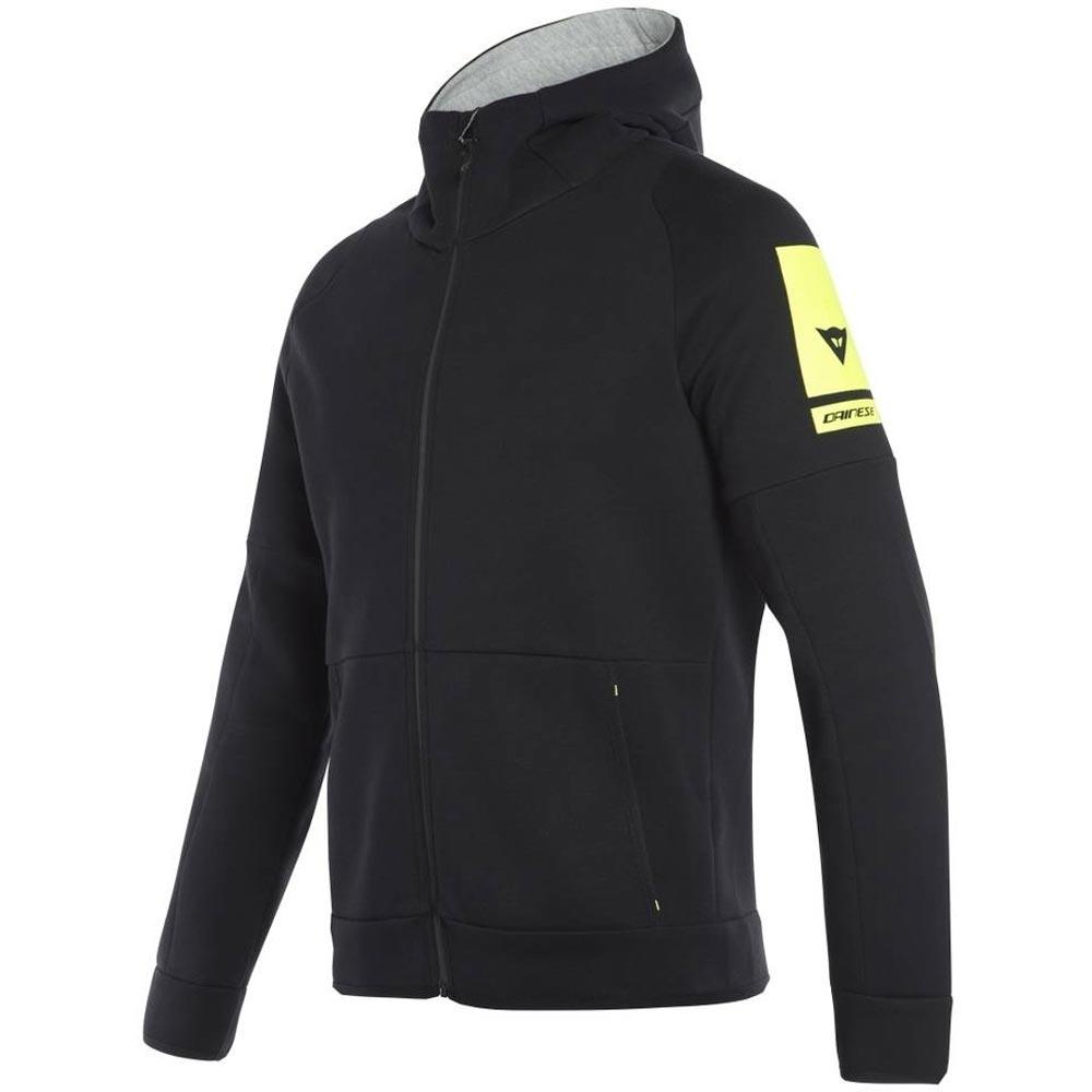 Dainese Full Zip Sweatshirt schwarz gelb