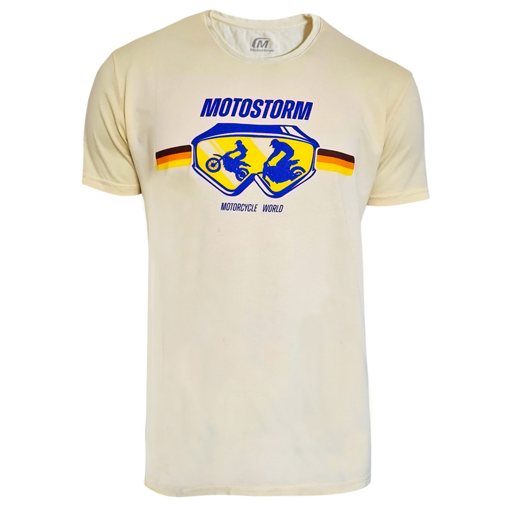 T Shirt Motostorm Vintage Giallo