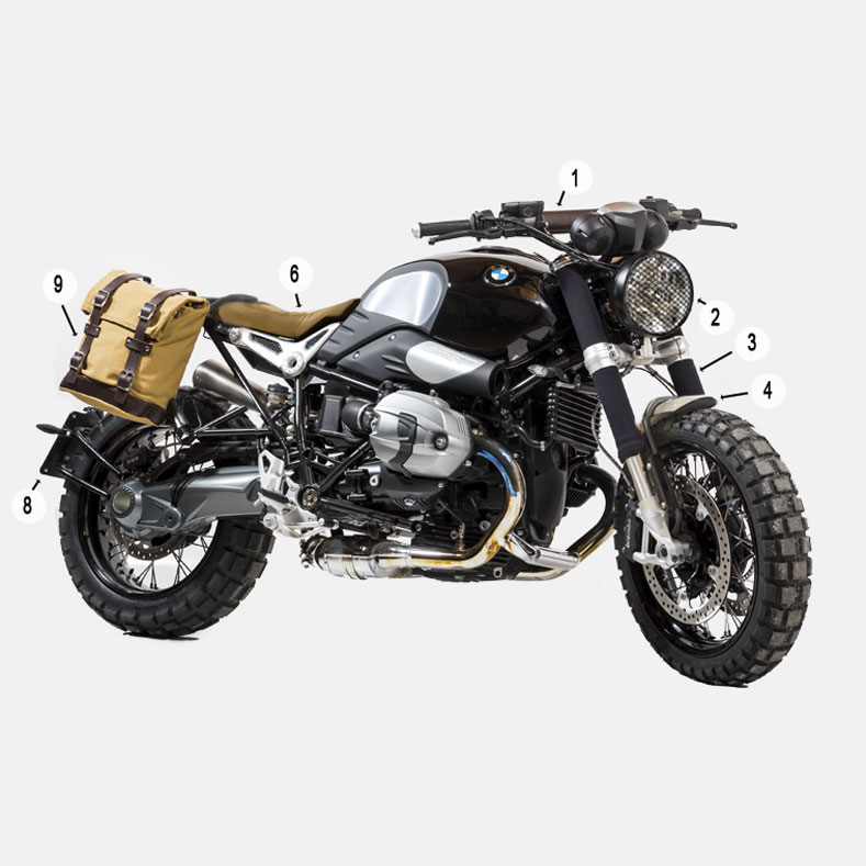 unit garage kit bmw r nine t 1660 ug 1660 custom motostorm. Black Bedroom Furniture Sets. Home Design Ideas