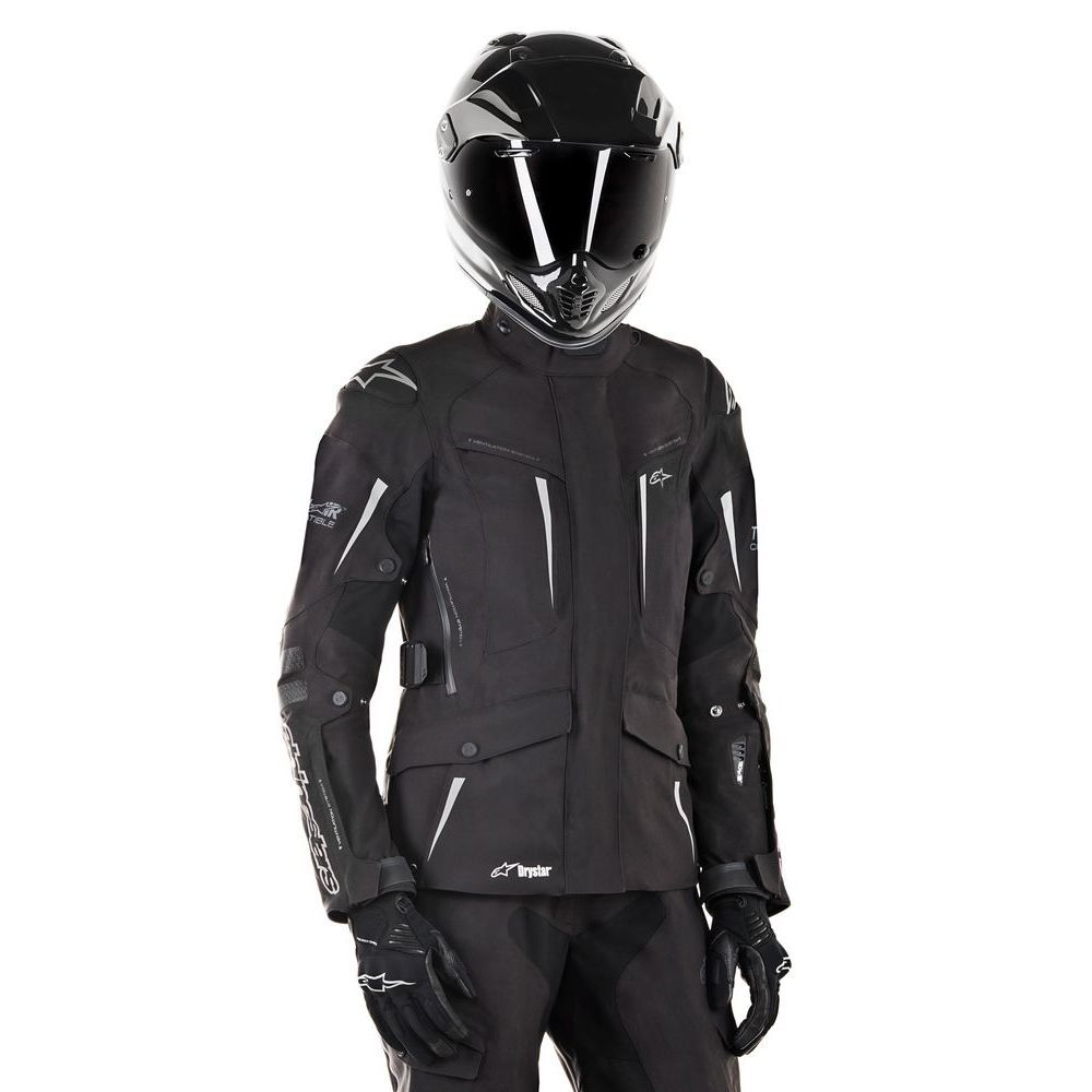 alpinestars stella yaguara drystar jacket tech air compatible black motostorm. Black Bedroom Furniture Sets. Home Design Ideas