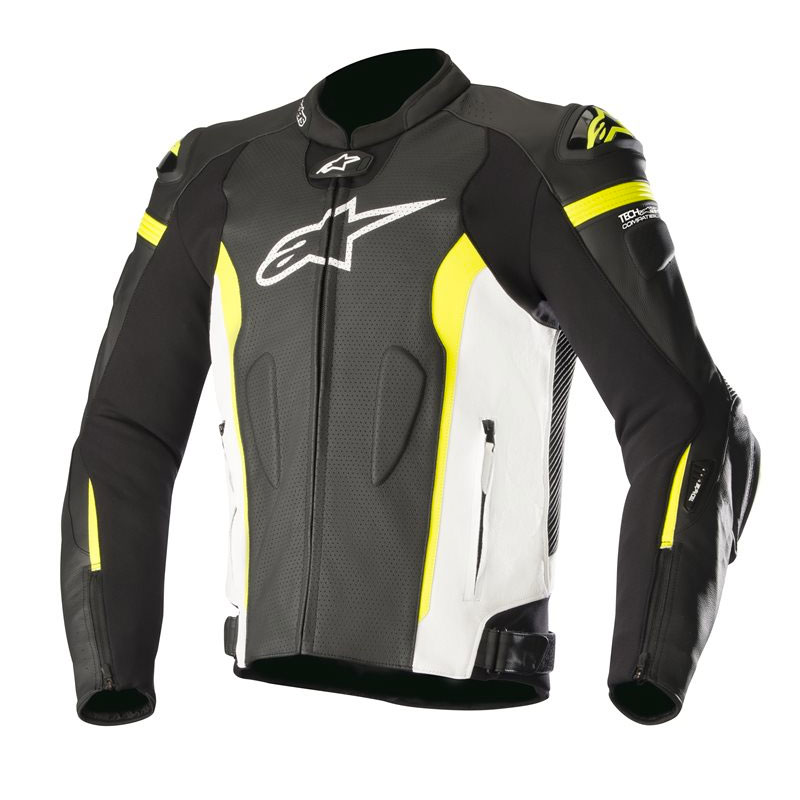alpinestars missile leather jacket tech air compatible yellow motostorm. Black Bedroom Furniture Sets. Home Design Ideas
