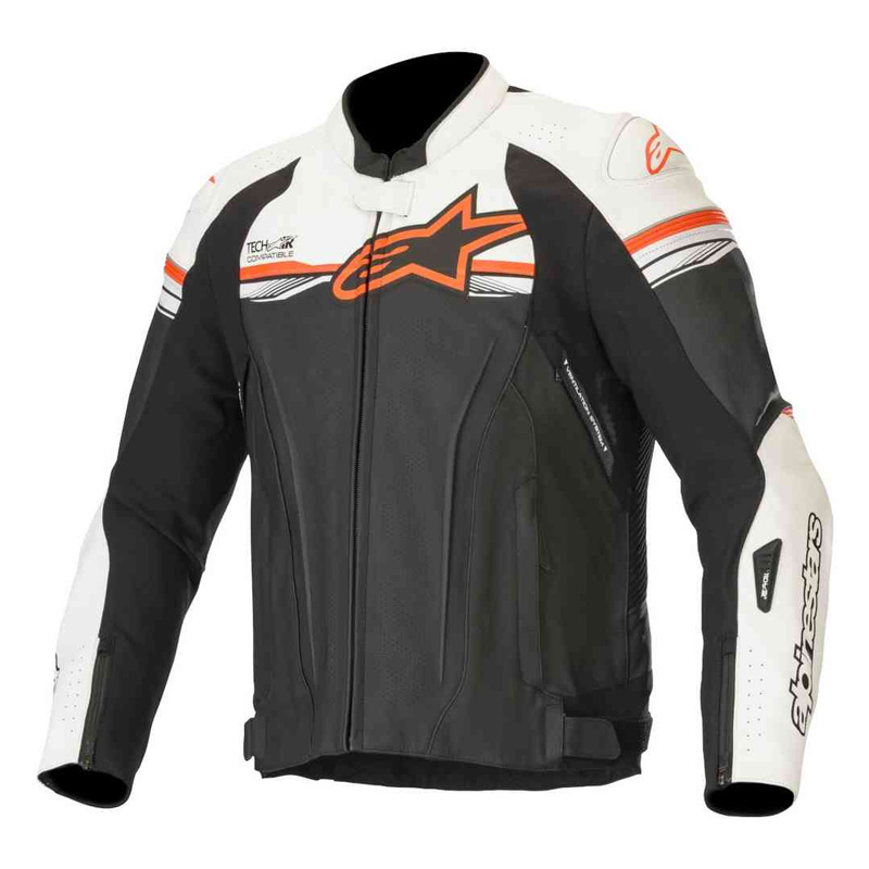 Alpinestars GP R V2 Lederjacke Tech Air weiss rot