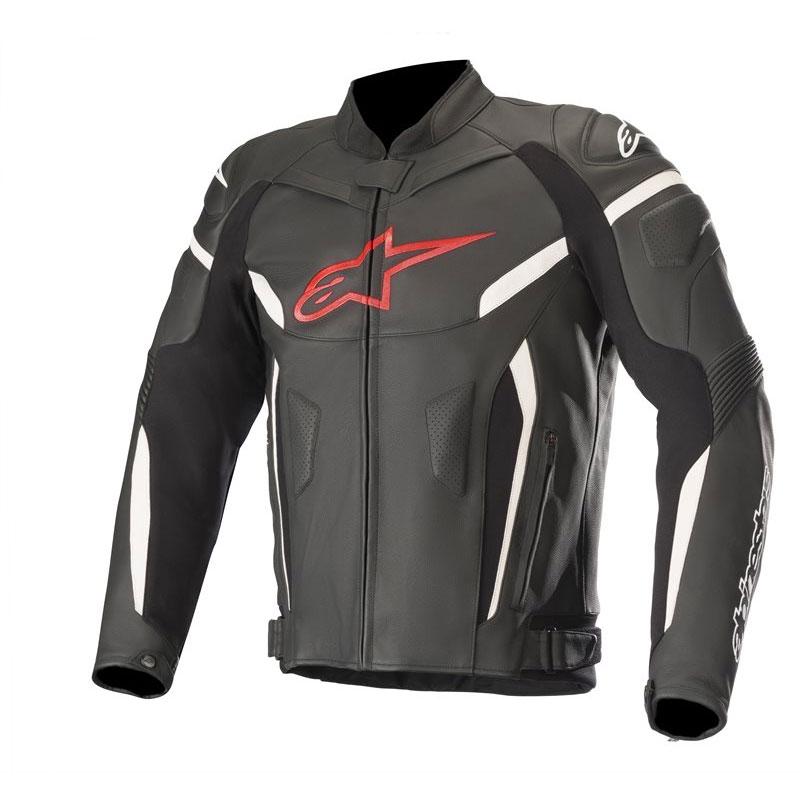 Alpinestars Gp Plus R V2 Leather Jacket Black Red