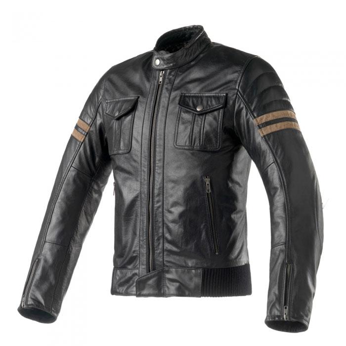 Clover Blackstone Lederjacke schwarz