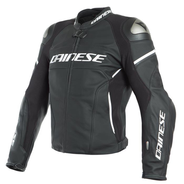 size 40 7de1f 57dc4 Giacca Di Pelle Dainese Racing 3 D-air® Bianco