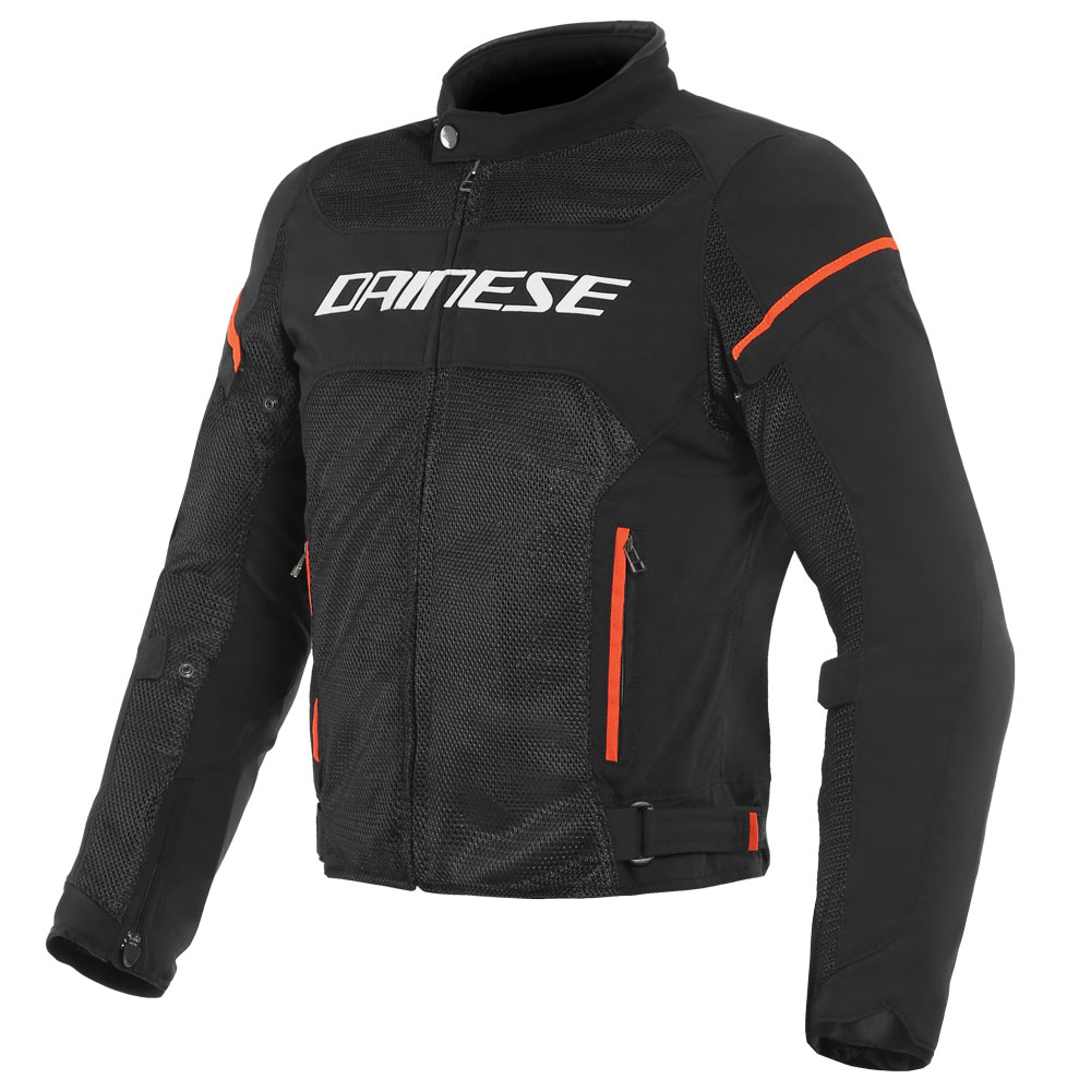 Dainese Air Frame D1 Tex Jacket Nero Rosso Fluo