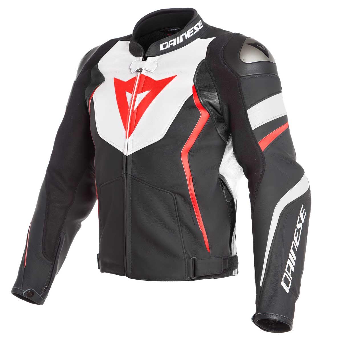 Dainese Avro 4 Perforierte Jacke schwarz weiß rot