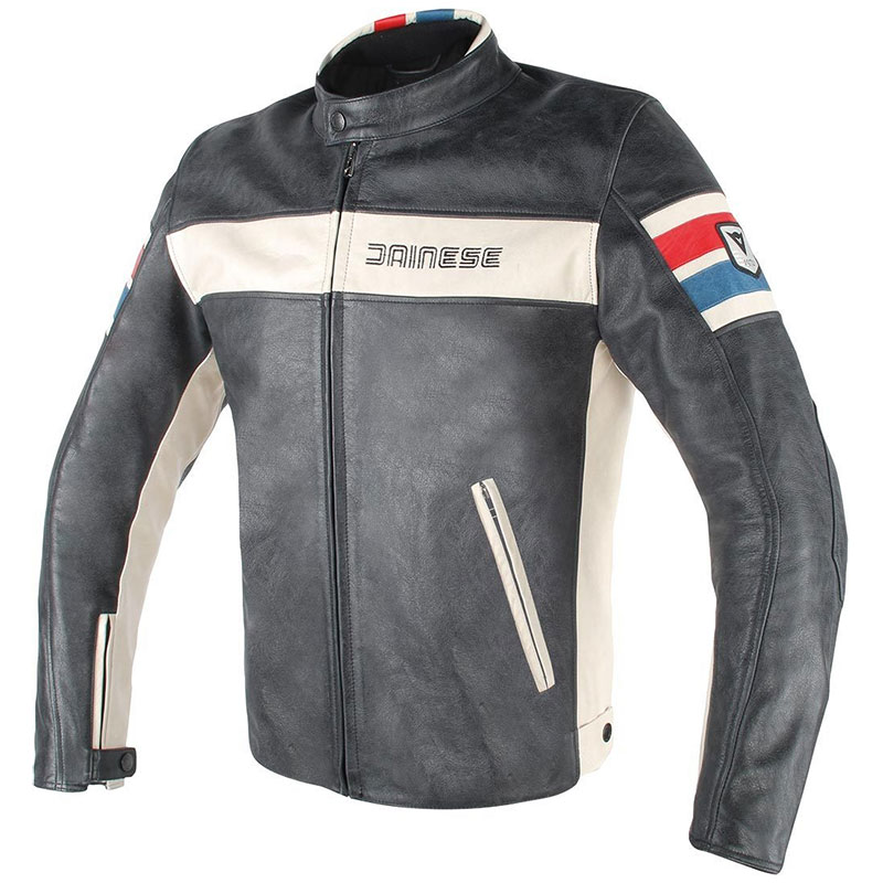 Dainese Hf D1 Leather Jacket Perforated Black ice  Red blue ... 9cc6f6cb32f