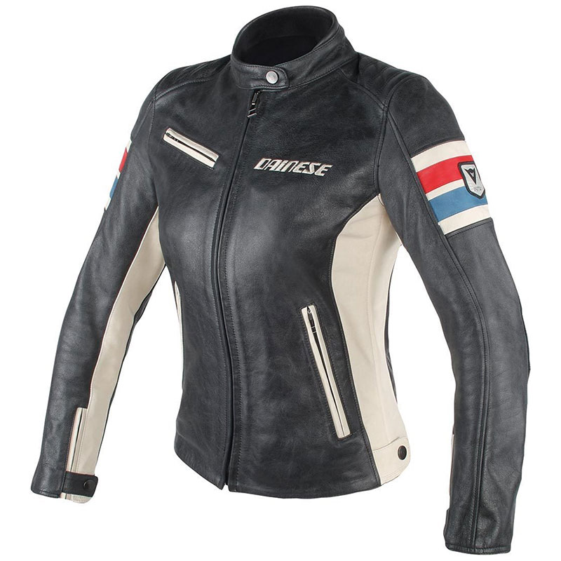 Dainese Lola D1 Lady Leather Jacket Black/ice/ Red/blue