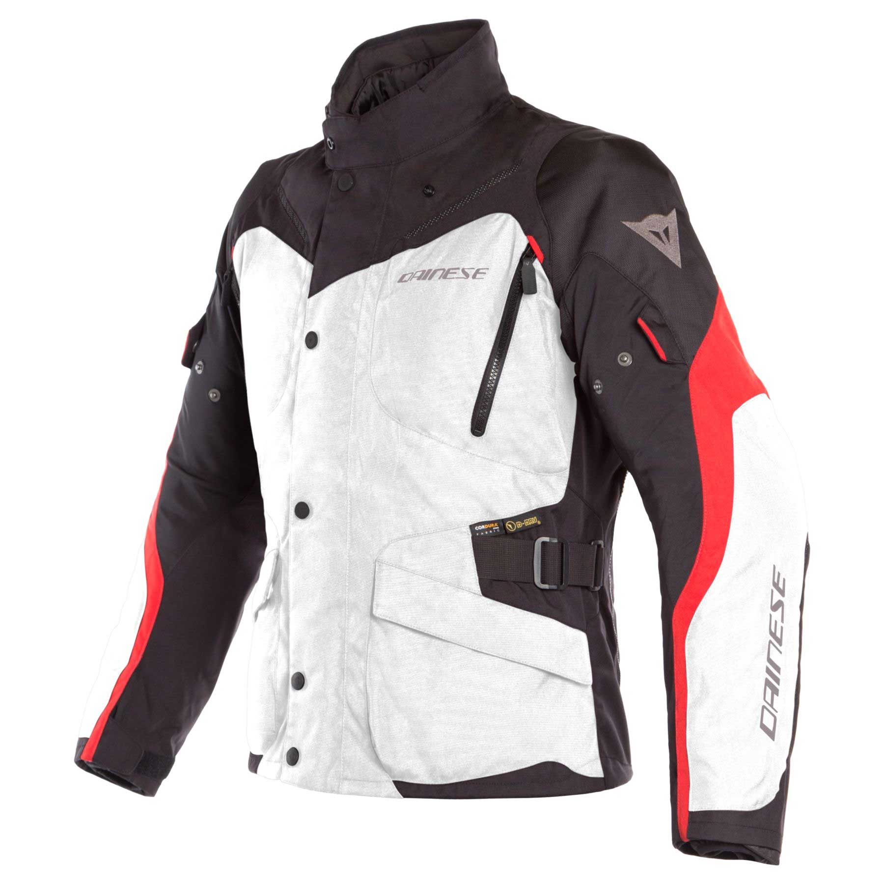 Dainese Giacca Tempest 2 D-dry Bianco Rosso Nero