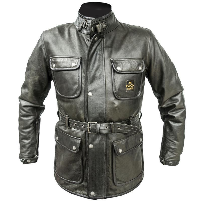usa cheap sale official site convenience goods Helstons Hunter Leather Jacket Military Green