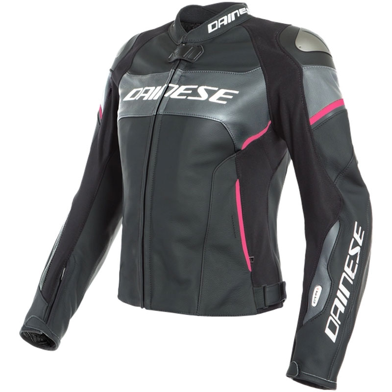 half off a42c9 1724e Giacca In Pelle Dainese Racing 3 D-air® Donna Rosa
